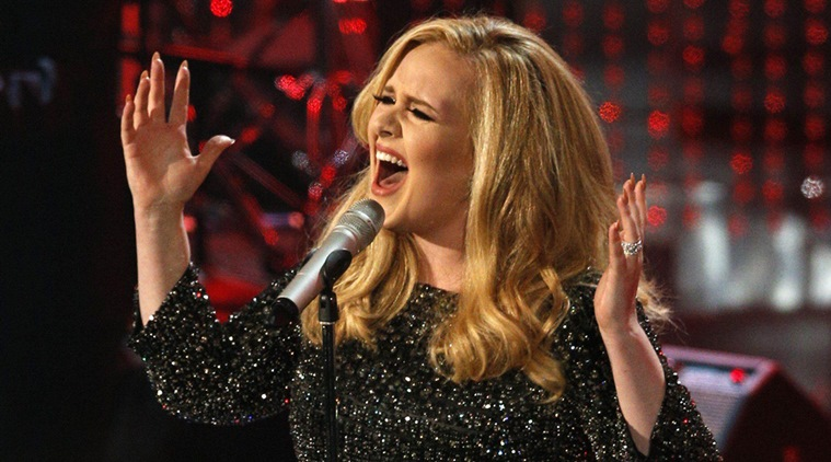 "British singer Adele performs the song ""Skyfall"" at the 85th Academy Awards in Hollywood"